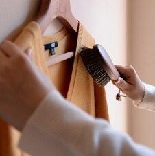 ショージワークスウォールナット洋服ブラシカシミア・シルク用CB-2日本製花粉ブラシ