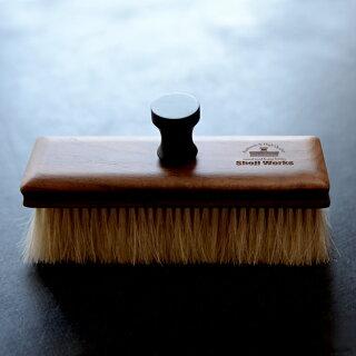 日本製洋服ブラシ馬毛ショージワークスウォールナット四角い馬毛の洋服ブラシHQ-1カシミヤ用ウール用花粉ブラシ