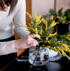 スクルーフSKRUFROベース9877花瓶フラワーベースクリア北欧スウェーデン手吹きガラス