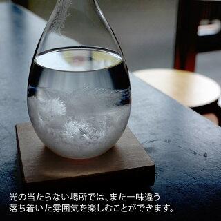 テンポドロップクロスセット100percentヒャクパーセントペロカリエンテTempoDropeストームグラスおしゃれしずく型インテリア飾り結晶北欧天気予報男性女性贈り物雑貨ガラスギフト