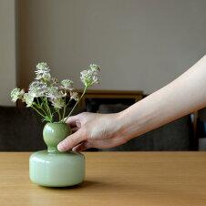 マリメッコmarimekko花瓶フラワーベースオリーブオパール067644601オリーヴグリーン北欧フィンランド手吹きガラス一輪挿し