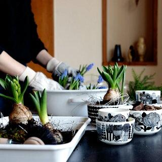 マリメッコ陶器球根花器marimekkoシイルトラプータルハSIIRTOLAPUUTARHAボウル500ml068424096ホワイト/ブラック北欧フィンランド