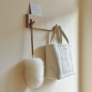 ウールダスターmiwoolliesニュージーランドダスターS羊毛無印良品壁に付けられる家具・3連ハンガー