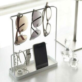 メガネスタンド眼鏡スタンドサングラス&アクセサリースタンドタワー白・黒アクセサリーケース