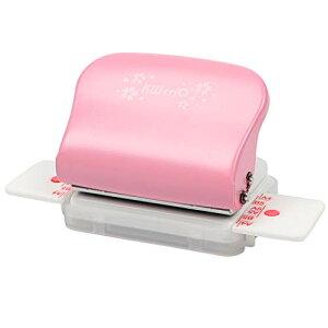 色:ピンク Jimjis 事務器 穴あけパンチ ルーズリーフパンチ A4/B5対応 穴あけ5枚 30穴/26穴/20穴/6穴/DIY あなあけパンチ (ピンク)