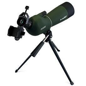 サイズ:20倍-60倍 60mm SVBONY SV28 フィールドスコープ スポッティングスコープ 傾斜型 20-60x 60mm BK7プリズム 多層コーティング IP65防水 汎用スマホアダプタ付き 卓上三脚付き 天体観測 野鳥観察