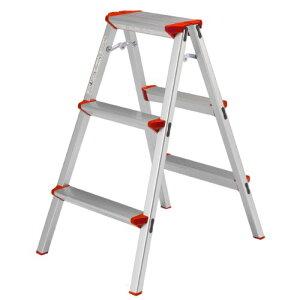 サイズ:3段79cm ALINCO(アルインコ) 3段踏み台【高さ79 天板2716cm】 CCA-80K 脚立 幅広 軽量 アルミ 製品安全協会認証