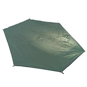 色:ダックグリーン - L TRIWONDER 六角形 タープ グランドシート 防水軽量 天幕 テントシート キャンプマット 収納バッグ付き