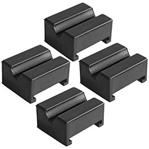 サイズ:4個 ZHUBANG ジャッキスタンド用パッド ゴム超高耐久ラバーパット 特殊繊維入り ジャッキ汎用ゴムパット(4個入り 方形)