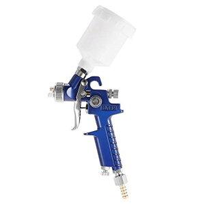 Ausuc エアスプレーガン 口径1.0mm ミニ HVLP 重力フィード エアブラシセット DIY 家具 塗装 自動車補修 仕上げ ペイント スポット修理 スプレーャー