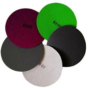 色:30枚セット 5タイプ #400 - #3000 Aewio 耐水 サンドペーパー #400 - #3000 丸型 サンダー用 鏡面磨き 紙やすり 400 800 1200 2000 3000 各6枚 (30枚セット 5タイプ 各6枚 #400 - #3000)