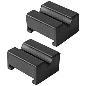 サイズ:2個 ZHUBANG ジャッキスタンド用パッド ゴム超高耐久ラバーパット 特殊繊維入り ジャッキ汎用ゴムパット(2個入り 方形)