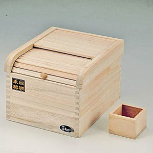 虫を寄せ付けない温度調整に優れた桐製ライスストッカー。米びつ桐製5kg用/ライスボックス/防虫/おしゃれ/収納【RCP】fs04gm
