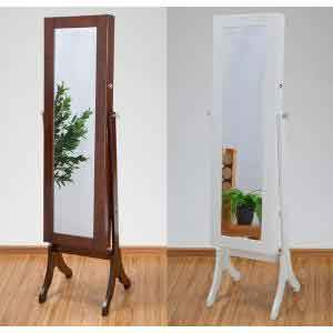 Intelliaj Jewelry Storage Mirror High Type And Stand Mirror / Mirror /  Interior / Lightweight / Large / Looking Glass / Storage / Cabinet / ...