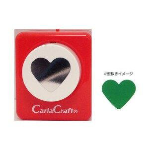 Carla Craft(カーラクラフト) ミドルサイズ クラフトパンチ ハート クラフトパンチ 型抜き 文具 大 星 丸 サークル