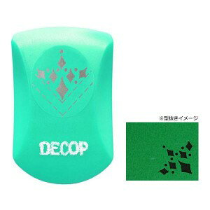 PI Original DECOP コーナーパンチ ダイヤモンド クラフトパンチ 型抜き 文具 大 星 丸 サークル