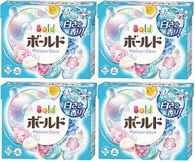 【まとめ買い】ボールド 洗濯洗剤 粉末 プラチナクリーン ピュアクリーンサボンの香り 通常サイズ 850g×4個