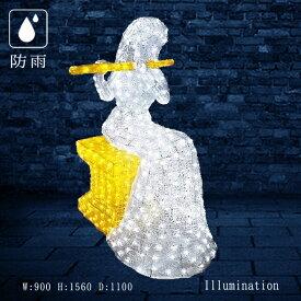 業務用 イルミネーション 大型モチーフ 3D 屋外 防滴 LEDクリスタルグロー パフォームフルート