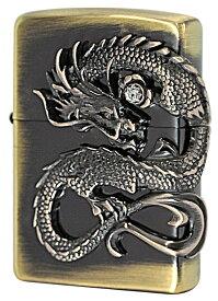 Zippo ジッポー 龍サイドメタル 1 真鍮古美 DS-BS zippo ジッポライター オプション購入で名入れ可