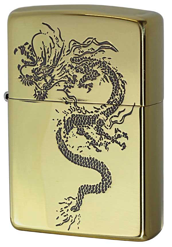 Zippo ジッポー 和柄 龍 Japanese pattern Dragon 2BS-WDR1 zippo ジッポ ライター オプション購入で名入れ可