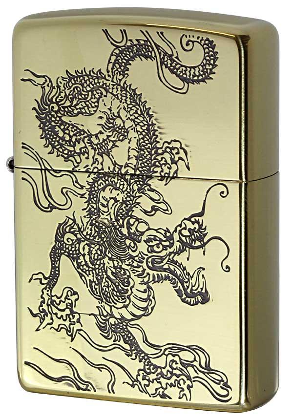 Zippo ジッポー 和柄 龍 Japanese pattern Dragon 2BS-WDR2 zippo ジッポ ライター オプション購入で名入れ可