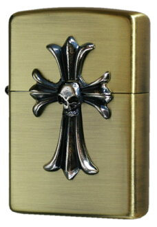 Zippo ( Zippo ): skull Cross (C) antique brass