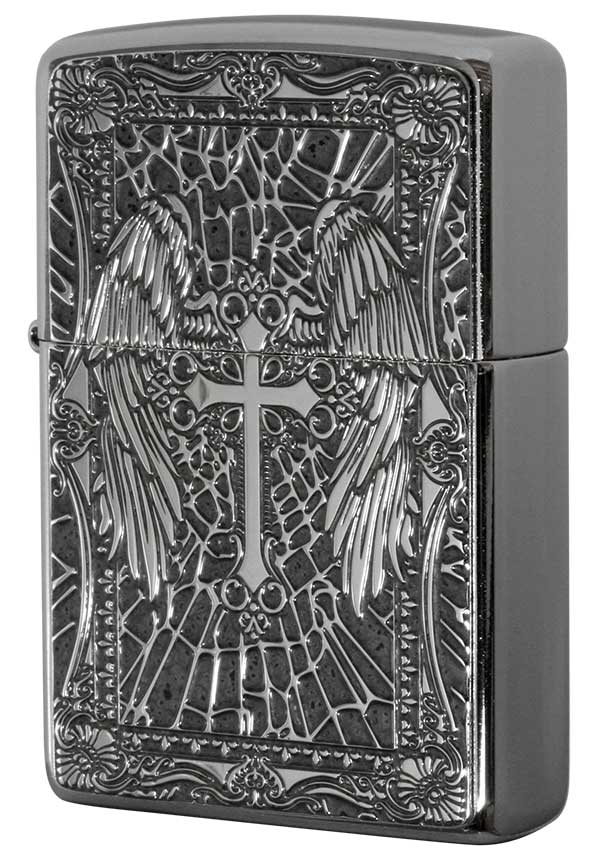 Zippo ジッポー 200 Flat Bottom Metal Paint Plate 2MPP-Cross GY zippo ジッポ ライター オプション購入で名入れ可