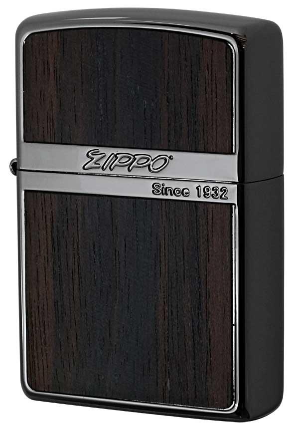 Zippo ジッポー Wood Series ウッドシリーズ NB-Wood ダーク 黒檀 zippo ジッポ ライター オプション購入で名入れ可