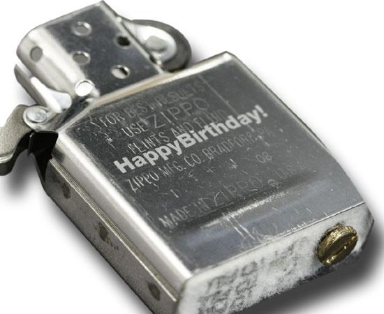 Zippo インナー名入れ彫刻 オイルタンク部分 ゴシック体のみ ※ライターと一緒にご購入ください
