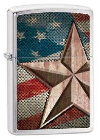 Zippo(ジッポー):Retro Star and Flag 28653 zippo ジッポ ライター オプション購入で名入れ可 メール便可