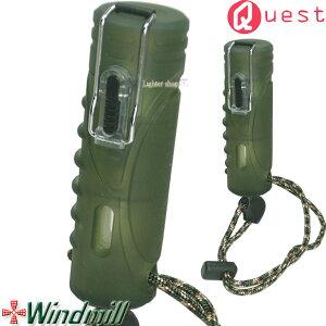 Windmill Quest ウインドミル クエスト ターボライター グリーンスモーク ストラップ付【耐風・耐衝撃・生活防水機能】