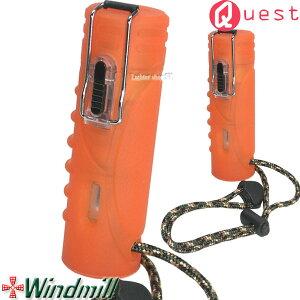 Windmill Quest ウインドミル クエスト ターボライター ブレイスオレンジ ストラップ付【耐風・耐衝撃・生活防水機能】