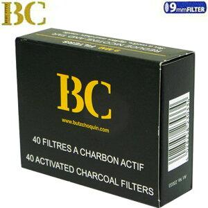 BC ブッショカン チャコールフィルター 9ミリ(40本入り)【追跡可能メール便(ネコポス)対応商品/日時指定不可】