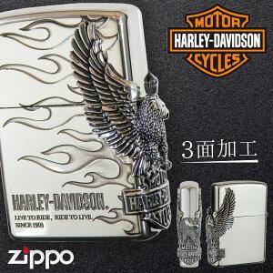 【返品不可】zippo ライター 名入れ ジッポライター ジッポーライター ハーレーダビッドソン HARLEY DAVIDSON かっこいい バイク好き オイルライター 200 日本国内限定モデル 彼氏 男性 メンズ 喫
