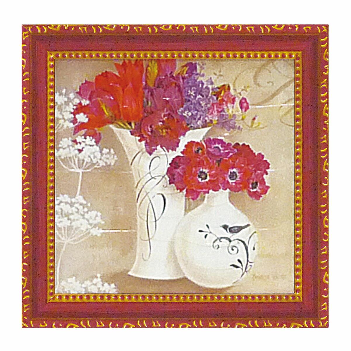 【ポイント10倍】 絵画 絵 花 インテリア 玄関 キャサリンホワイト「花盛り1」 KW-02003