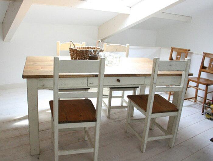 ダイニングテーブルダイニングセット木製カントリーダイニングチェアホテルリビング天板無垢北欧カフェナチュラルモダンダイニングテーブル(単品)ラスティックパインスクエアレッグテーブル1600×8000220-dt-RT-200-160
