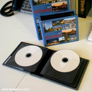 【ポイント10倍】 シーディーブック CD DVD 収納 小物入れ BOX アンティーク ブック 北欧 インテリア プレゼント CD book S シーディーブック Sサイズ 0400-zk-SD-3026