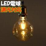 LEDエジソン電球G40G調光