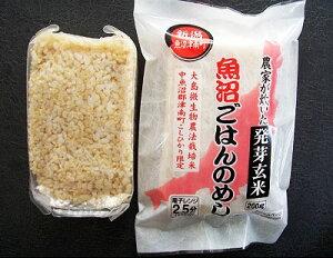 独特のぷちぷち感・甘み、魚沼産コシヒカリで発芽玄米がよりおいしく★魚沼ごはんのめし 発芽玄米(はつがげんまい)10パックまとめ買い(180g×10)特別栽培魚沼産こしひかり使用レトルトごは