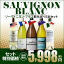 ぶどう品種で楽しむ ソーヴィニヨン・ブラン ワイン5本セット【送料無料】[ワインセット][長S]