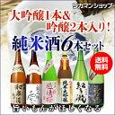 日本酒 飲み比べセット 送料無料純米大吟醸1本 純米吟醸2本入り!純米酒1.8L 6本セット 浜福鶴 奥飛騨 雪 玉乃光 越後…
