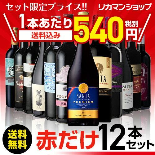 赤だけ!特選ワイン12本セット 第138弾【送料無料】[ワインセット][長S] 赤ワイン