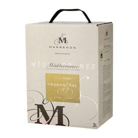 《箱ワイン》 マレノン メディテラネー シャルドネ 3L BIB ボックスワイン フランス 白 辛口 長S