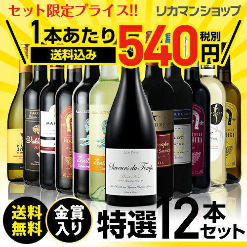金賞入り特選ワイン12本セット193弾【送料無料】[ワインセット][長S]