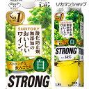 サントリー 酸化防止剤無添加のおいしいワイン ストロング白 14度 1800ml 1.8L 紙パック 白ワイン 大容量 STRONG 美味しいワイン長S 国産 パック
