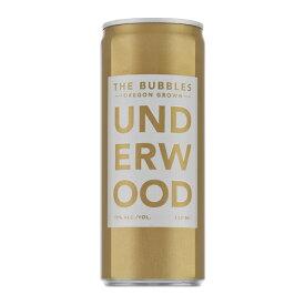 アンダーウッド ザ バブルズ 250ml缶 アルコール11% アメリカ オレゴン 白 泡 辛口 ワイン スパークリングワイン 長S