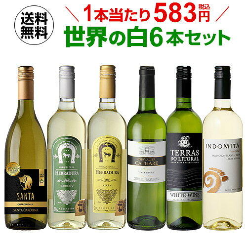 ワインセット 白6本 世界のぶどう品種飲み比べ 超コスパ白ワインセット 21弾 母の日 父の日 ドリンク 酒...