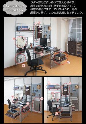 【送料無料】突っ張りデスクパーテーションシステム専用大型棚板(幅55×奥行40cm)《突っ張りデスクパーテーションシステムシリーズ》