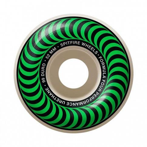 【SPITFIRE】 FORMULA FOUR CLASSIC GREEN 52MM 99D (Set Of 4) WHEEL スピットファイヤー ウィール スケートボード スケボー SKATEBOARD
