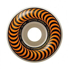 【SPITFIRE】 FORMULA FOUR CLASSIC Orange 53mm 101D (Set Of 4) WHEEL スピットファイヤー ウィール スケートボード スケボー SKATEBOARD